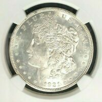1921-D MORGAN SILVER DOLLAR - NGC MINT STATE 62 BEAUTIFUL COIN  REF02-002