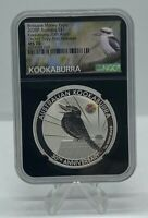 2020 30TH ANN. KOOKABURRA 1OZ SILVER COIN ORCHID PRIVY NGC MS70 ANDA FR