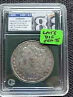LATE DIE STATE  KNOBBED 8  TOP 100 VAM 1A2 1880 MORGAN SILVER DOLLAR SHIPS FREE