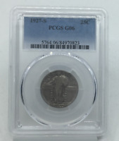 1927-S STANDING LIBERTY QUARTER G 6 PCGS CERTIFIED G6 SILVER 25C