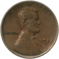 1922 D LINCOLN WHEAT CENT STRONG REVERSE  FINE PENNY VF