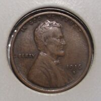 1916 D LINCOLN WHEAT CENT , VF