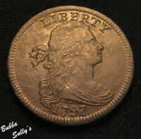 1797 DRAPED BUST LARGE CENT <> S 138 R1 'R' & '7' TOUCHES <>
