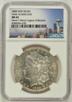 1889 MORGAN SILVER DOLLAR $1 VAM-16 DDO EAR NGC MINT STATE 62 4388366-030