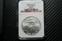 2006 SILVER EAGLE NGC MINT STATE 69 FIRST STRIKE 73097