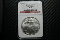 2006 SILVER EAGLE NGC MINT STATE 69 FIRST STRIKE 73098