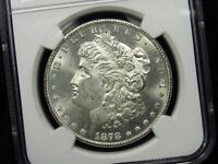1878-S MORGAN SILVER DOLLAR NGC MINT STATE 63 001