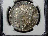 1904-O MORGAN SILVER DOLLAR NGC MINT STATE 63 083 TONED