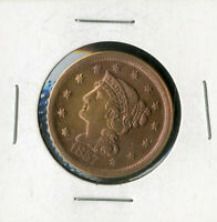 US COIN 1857 BRAIDED HAIR LARGE CENT