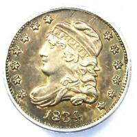 1834 CAPPED BUST HALF DIME H10C COIN - CERTIFIED ANACS AU55 DETAILS -