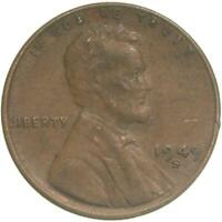 1949 S LINCOLN WHEAT CENT EXTRA FINE PENNY EXTRA FINE