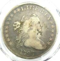 1797 DRAPED BUST SMALL EAGLE SILVER DOLLAR $1 10X6 - PCGS VG DETAIL -  COIN