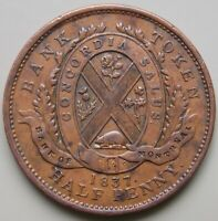 1837 LC 8D2 LOWER CANADA CANADIAN COLONIAL BANK OF MONTREAL