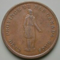 1837 LC 9B4 LOWER CANADA CANADIAN COLONIAL QUEBEC BANK HABIT