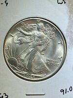 UNCIRCULATED 1941 S WALKING LIBERTY HALF DOLLAR