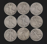 WALKING LIBERTY HALF DOLLAR LOT  41 COINS