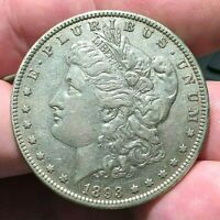 1893 P MORGAN SILVER DOLLAR $1 KEY DATE AU ABOUT UNCIRCULATED VAM 4