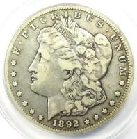 1892-CC MORGAN SILVER DOLLAR $1 - CERTIFIED ANACS F15 -  CARSON CITY COIN
