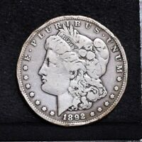 1892-CC MORGAN DOLLAR - VG DETAILS 33316