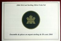 2004   CANADA STERLING SILVER 50 CENTS COIN SET    I1764