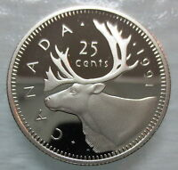 1991 CANADA 25 CENTS HEAVY CAMEO PROOF QUARTER COIN  KEY DAT