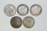 DIFFERENT DATES FIVE CENT SILVER CANADIAN COIN LOT   157583J