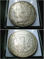1900 P MORGAN SILVER DOLLAR CHOICE AU/UNC COIN  ORIGINAL TONED