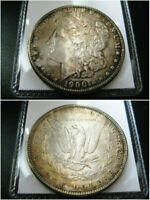 1900 P MORGAN SILVER DOLLAR CHOICE UNC BU COIN  ORIGINAL TONED