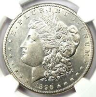 1896-S MORGAN SILVER DOLLAR $1 COIN - CERTIFIED NGC AU55 - NEAR MS / UNC