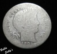 1894 O BARBER DIME <> ABOUT GOOD