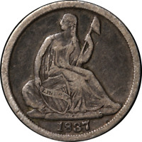 1837 SEATED LIBERTY HALF DIME   NO STARS GREAT DEALS FROM TH
