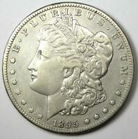 1895-S MORGAN SILVER DOLLAR $1 - CHOICE VF DETAILS -  DATE COIN