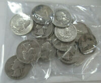 US $5.00 FACE SILVER WASHINGTON QUARTERS   ALL 1964 OR BEFOR