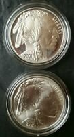2001 P PROOF AND D UNCIRCULATED $1 AMERICAN BUFFALO COMMEMOR