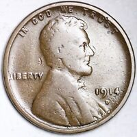FINE 1914 D LINCOLN WHEAT CENT PENNY
