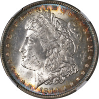 1879-P MORGAN SILVER DOLLAR NGC MINT STATE 63 SUPERB EYE APPEAL STRONG STRIKE