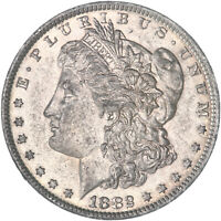 1882 O MORGAN SILVER DOLLAR ABOUT UNCIRCULATED AU SEE PICS E695