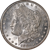 1880-CC MORGAN SILVER DOLLAR NGC MINT STATE 63 BLAST WHITE GREAT EYE APPEAL STRONG STRIKE