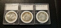 MORGAN SILVER DOLLAR 3 COIN SET NEW ORLEANS MINT 1883 O 1884 O 1885 O BU MS
