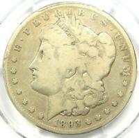 1893-S MORGAN SILVER DOLLAR $1 - CERTIFIED PCGS GOOD DETAILS -  KEY COIN