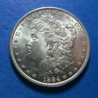 1884 VAM 2 DASH UNDER 2ND 8 MORGAN SILVER DOLLAR SHIPS FREE