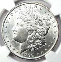 1898-S MORGAN SILVER DOLLAR $1 COIN - CERTIFIED NGC AU DETAILS - NEAR MS UNC