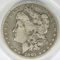 1901-S $1 MORGAN DOLLAR ANACS VG10 DETAILS CLEANED