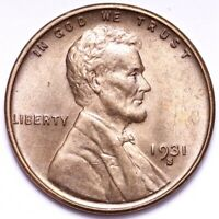 1931-S LINCOLN WHEAT CENT PENNY CHOICE BU SHIPS FREE E648 ACNT