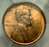 1945 LINCOLN WHEAT CENT PCGS MINT STATE 64 RD