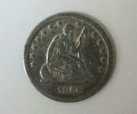 1856 O LIBERTY SEATED SILVER QUARTER 160604JR