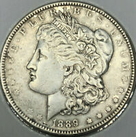 1889-P $1 MORGAN SILVER DOLLAR ERROR VAM-19A DIE FILLED STAR GOUGE NECK DBL 8'S