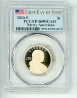 2020 S SACAGAWEA $1 NATIVE AMERICAN PCGS PR69DCAM FIRST DAY