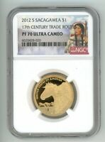 2012 S SACGAWEA $1 17TH CENTURY TRADE ROUTES NGC PF70 ULTRA