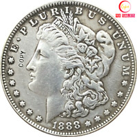 1888-US MORGAN SILVER DOLLARNEW MODEL COINFOR COLLECTIBLES/GIFT 1OZ.OLD MONEY